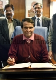 Railway Minister Suresh Prabhu Giving Final Touches To Rail Budget 2016