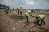 Students And Volunteers Clean Up Beaches A Day After Ganapati Immersions