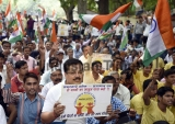Jansankhya Samadhan Members Protest Demand Two Child Policy For All At Jantar Mantar