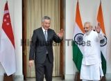 Singaporean Prime Minister Lee Hsien Loong Meeting With Indian Prime Minister Narendra Modi
