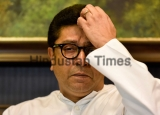 MNS Chief Raj Thackeray Addresses A Press Conference At His Residence