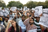 Members Of JNUSU Protest Over Missing Student Najeeb Ahmad