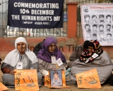 Kashmiri Muslim Hold Protest To Mark International Human Rights Day In Srinagar