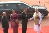 Ceremonial Reception Of Indonesian President Joko Widodo At Rashtrapati Bhawan