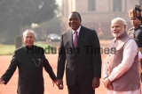 Ceremonial Reception Of Kenyan President Uhuru Kenyatta At Rashtrapati Bhavan