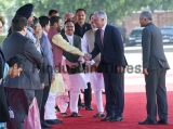 Ceremonial Reception Of Australian Prime Minister Malcolm Turnbull At Rashtrapati Bhawan