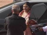 Ceremonial Reception Of Nepal President Bidhya Devi Bhandari
