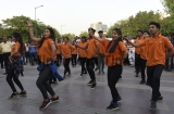 Youth BJP Perform Flash Mob Dance During MCD Campaign