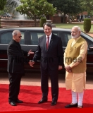 Ceremonial Reception Of Cyprus President Nicos Anastasiades At Rashtrapati Bhawan