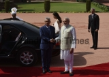Ceremonial Reception Of Prime Minister Of The Republic Of Mauritius Pravind Kumar Jugnauth