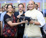 Defence Minister Nirmala Sitharaman and Home Minister Rajnath Singh At DRDO Event