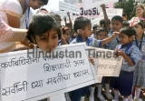 Hearing Impaired Children Participate In A Rally To Spread Awareness About The Hearing Impairment