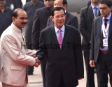Cambodian Prime Minister Hun Sen Arrives In New Delhi For ASEAN-India Summit