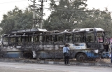 Mob Torches Bus In Protest Against Padmaavat At Gurugram's Sohna Road