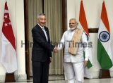Prime Minister Narendra Modi Meets Singapore PM Lee Hsien Loong