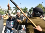 AAP Protest Against The Sealing Drive In Delhi