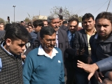 Delhi Chief Minister Arvind Kejriwal Visits The Shops Sealed By MCD