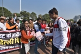 BJP Yuva Morcha Protest Against Delhi Chief Minister Arvind Kejriwal