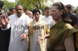 Congress Leads Opposition Protest Outside Parliament Raising Various Issues