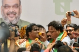 BJP Celebrate Decisive Lead In Karnataka Assembly Elections