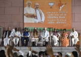 Prime Minister Narendra Modi And BJP President Amit Shah Address Party Workers After Party Emerged As The Single Largest Party In Karnataka Assembly Elections