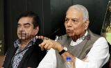 Joint Press Conference Of BJP MP Shatrughan Sinha And Former Union Minister Yashwant Sinha In Chandigarh