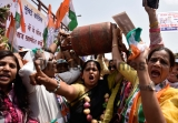 Congress Holds Protest Against Fuel Price Hike In Mumbai