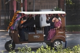External Affairs Minister Sushma Swaraj Hands Over E-rickshaws To Senegal Ambassador As Part Of Clean Energy Initiative