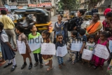 Children And Youngsters Form A Human Chain To Observe International Human Rights Day