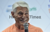 Press Conference Of Olympic Gold Medalist Diver Greg Louganis