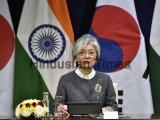 Meeting Of Union Minister of External Affairs Sushma Swaraj And South Korean Foreign Minister Kang Kyung-wha