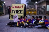 Tibetan Youngsters In Exile Protest Against The Visit Of Chinese Foreign Minister Wang Yi