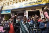 Bank employees Hold Protest During Nation Wide Strike