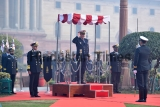 French Navy Chief Christophe Prazuck Receives Guard Of Honour In New Delhi