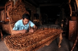 Walnut Wood-Carving Factory In Jammu