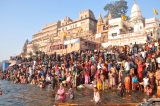 Devotees Take Dip In River Ganga On Makar Sankranti Festival