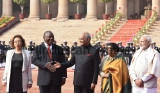 Ceremonial Reception Of South African President Matamela Cyril Ramaphosa