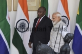 Meeting Between The Prime Minister Narendra Modi with South African President Matamela Cyril Ramaphosa