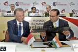 Prince Of Monaco Albert II And Commerce and Industry Minister Suresh Prabhu At India Monaco Business Forum