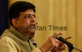 Union Finance Minister Piyush Goyal Addresses A Press Conference At Y B Chavan Centre