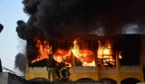 Massive Fire Breaks Out At Nehru Complex Market In Prayagraj