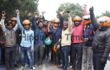 Uber Moto Drivers Stage Protest In Gurugram