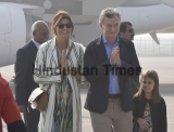 Argentina President Mauricio Macri Arrives In India On 3-Day Visit