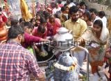 Hindu Devotees Throng Temples On Mahashivratri