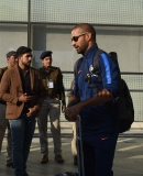 Indian And Australian Cricket Team Arrive At Chandigarh Airport