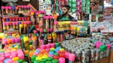 Shops Selling Products For Holi Festival