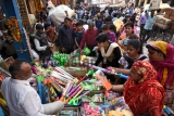 People Doing Purchasing For Holi Festival