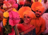People Celebrate Marathi New Year 'Gudi Padwa'