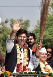 AAP Candidate Raghav Chadha Holds A Road Show; Files Nomination