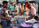 People Buy Things At Food Stalls To Break The Ramadan Fast